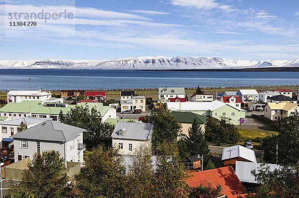 Bucht,Dorf,Europa,Fjord,Gewässer,Herbst