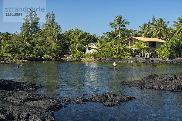 Amerika,Big Island,Gewässer,Gezeiten,Gezeiten-Schwimmbäder,Gezeitenbecken