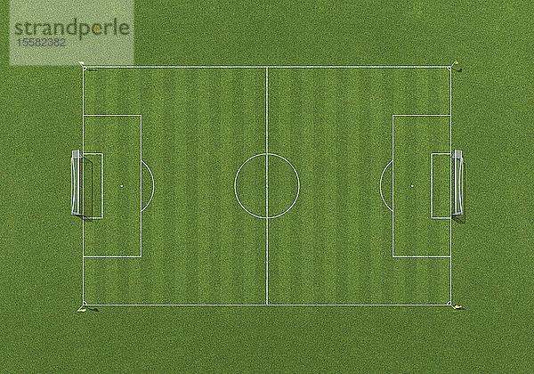 Fußballfeld, Draufsicht