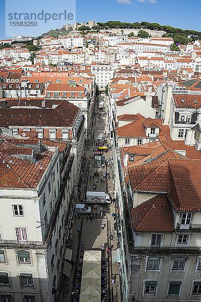 Draufsicht auf das Stadtbild in Lissabon, Portugal