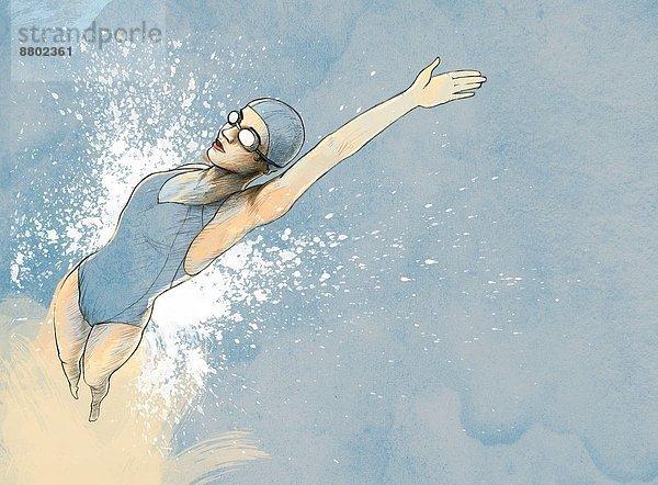 Frau                                                                                                                                                                                                                                                           ,Fotografie                                                                                                                                                                                                                                                     ,rückwärts                                                                                                                                                                                                                                                      ,schwimmen