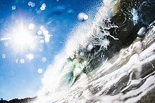 Barreling Welle, Nahaufnahme, Kalifornien, USA